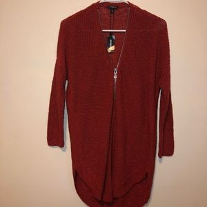 Brick red express sweater